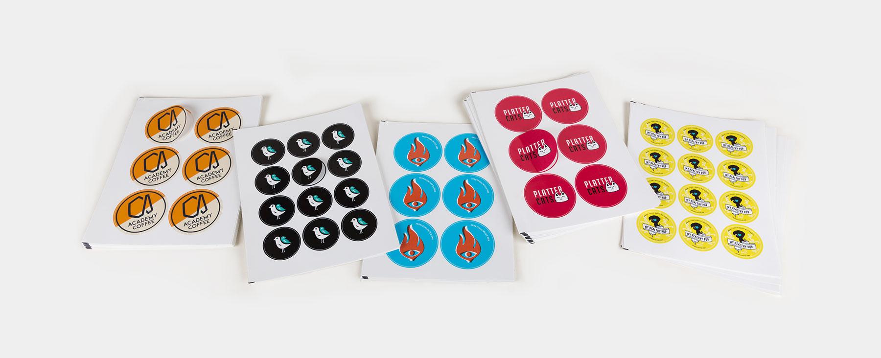 Circle sheet labels by Sticker Mule