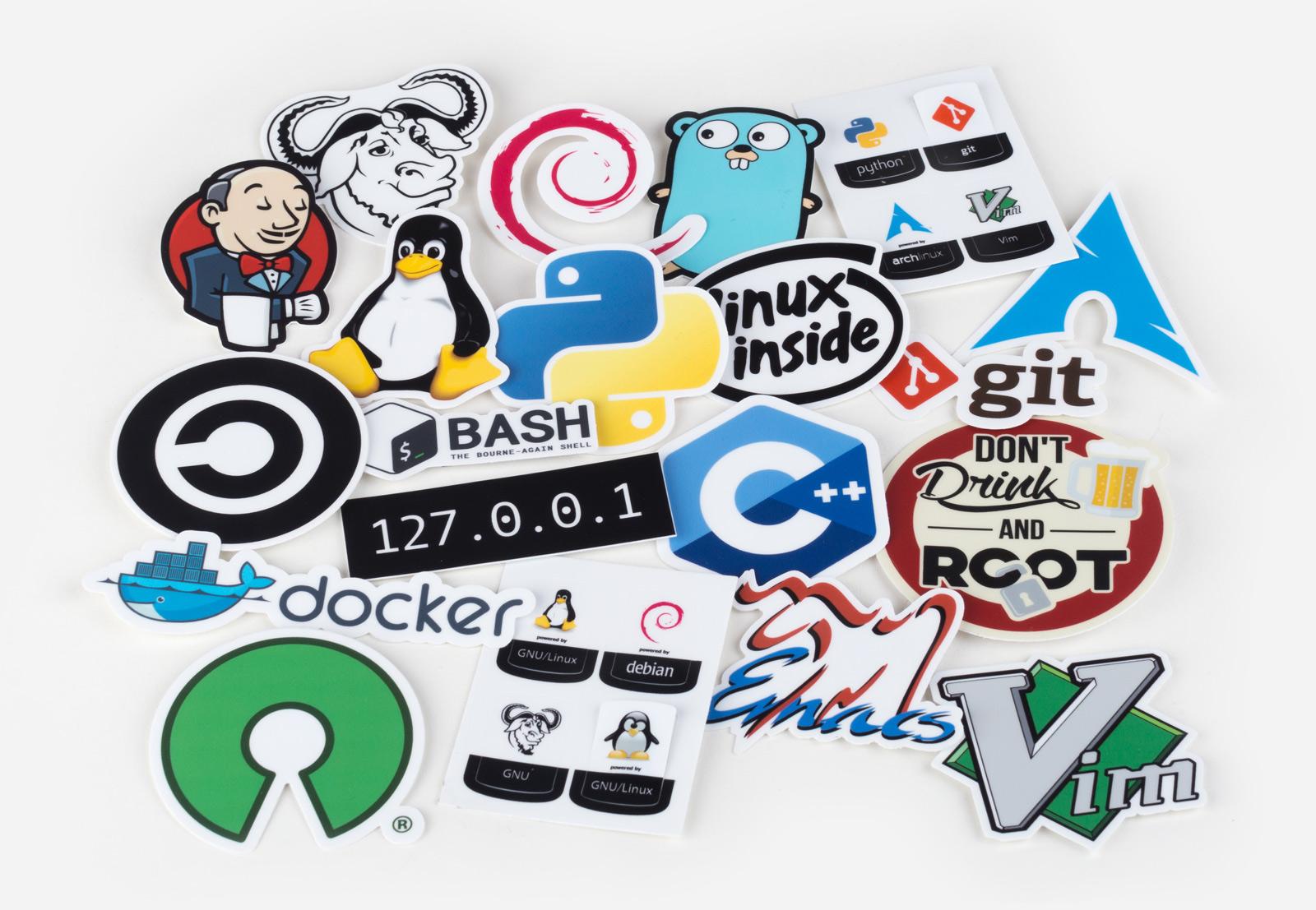 Unixstickers - Elite pack by Sticker Mule