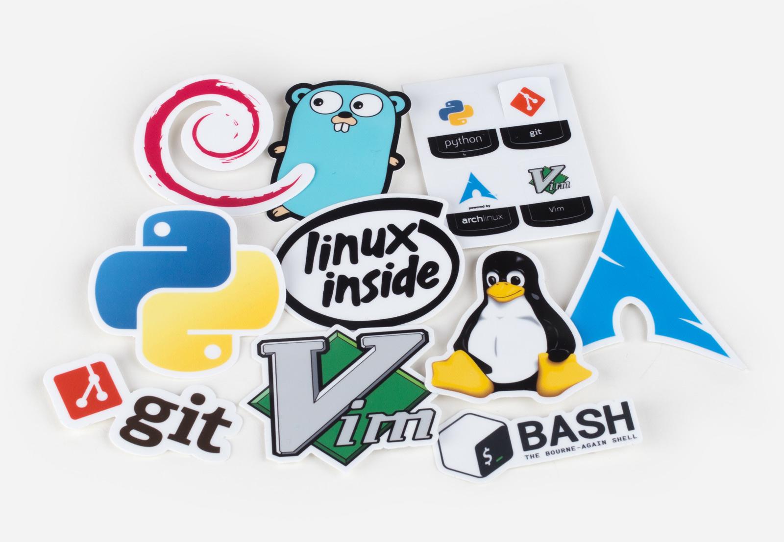 Unixstickers - Pro pack by Sticker Mule